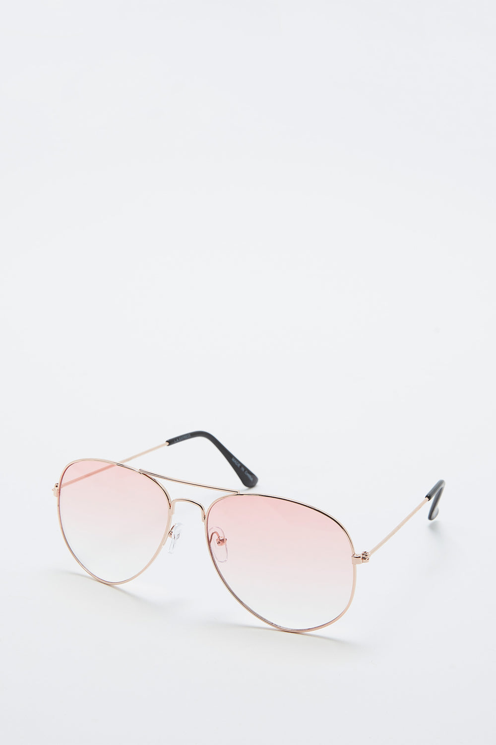 Basic Aviator Sunglasses Clear