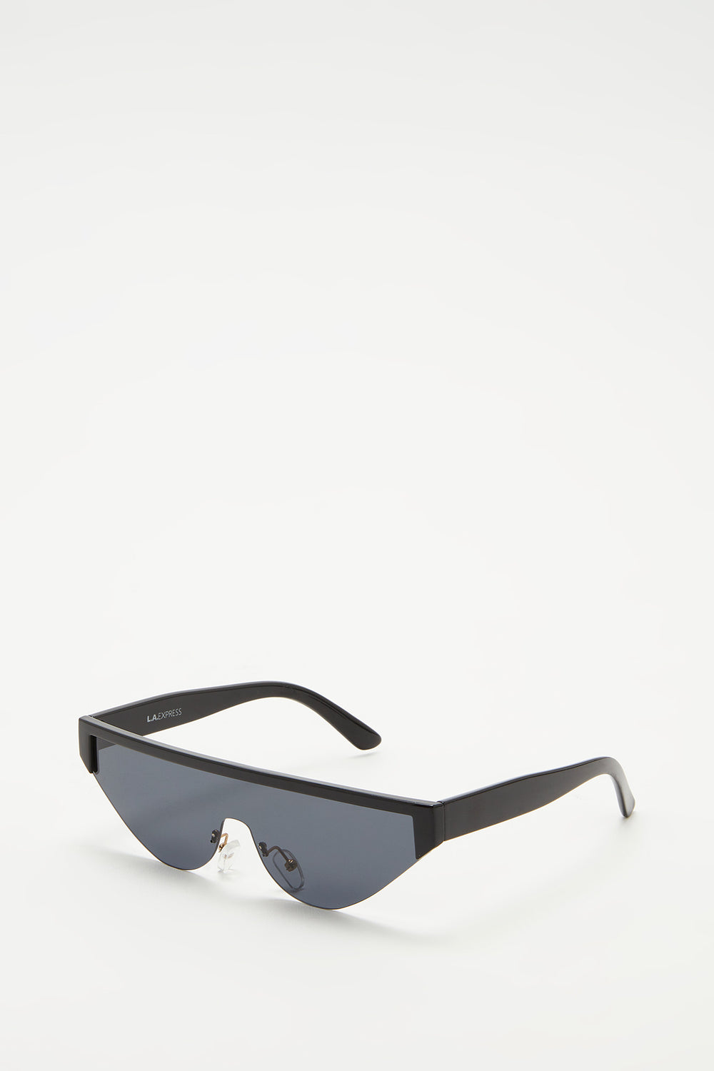 Semi-Rimless Cat Eye Sunglasses Plaid
