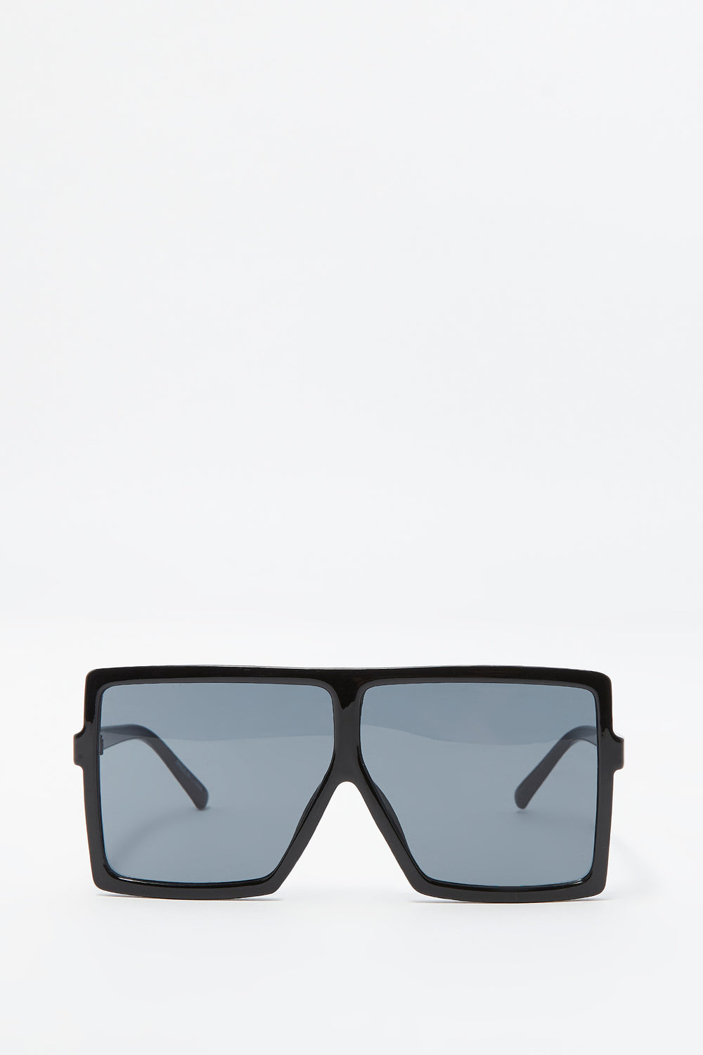Oversized Flat Top Square Frame Sunglasses Black