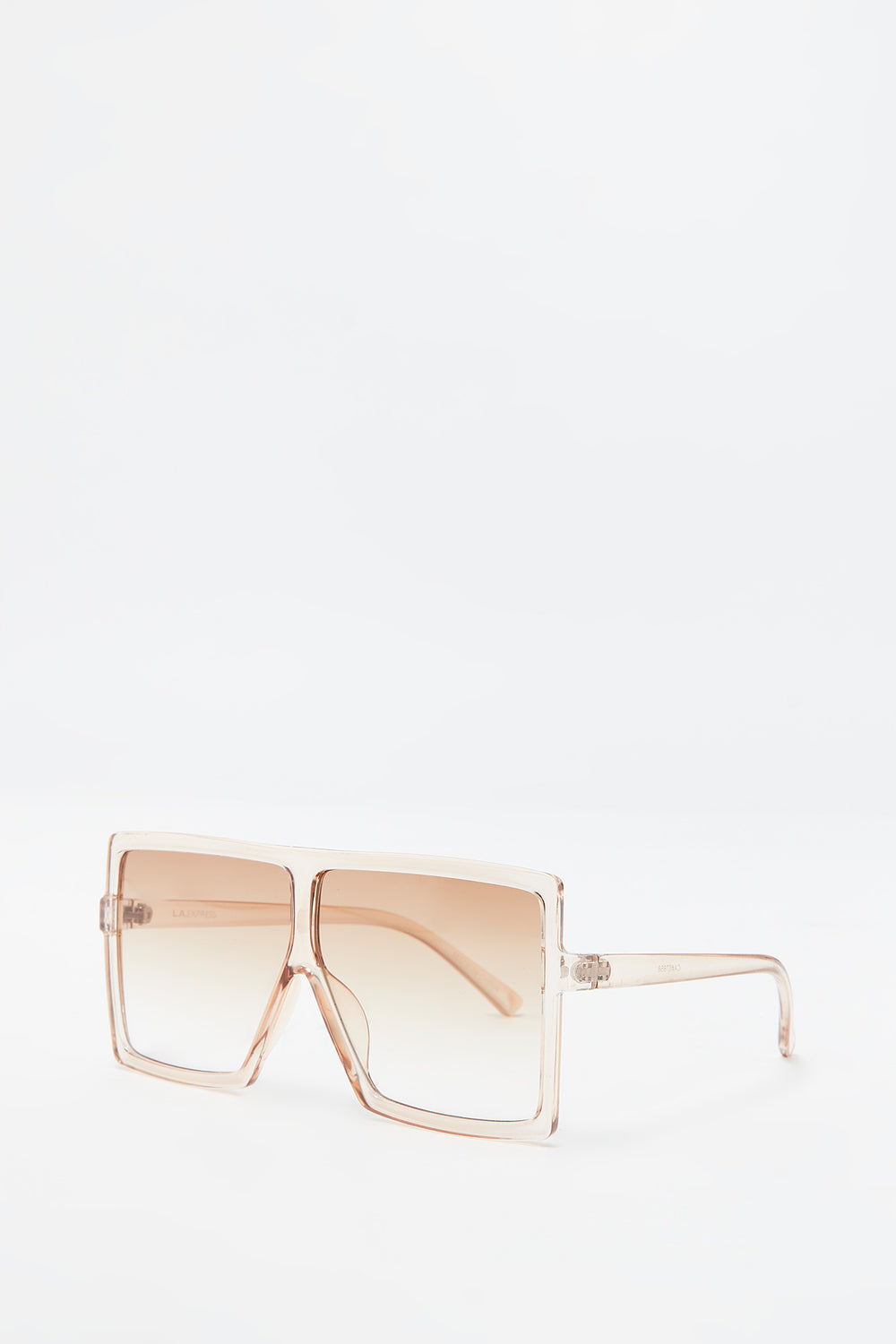 Oversized Flat Top Square Frame Sunglasses Cream