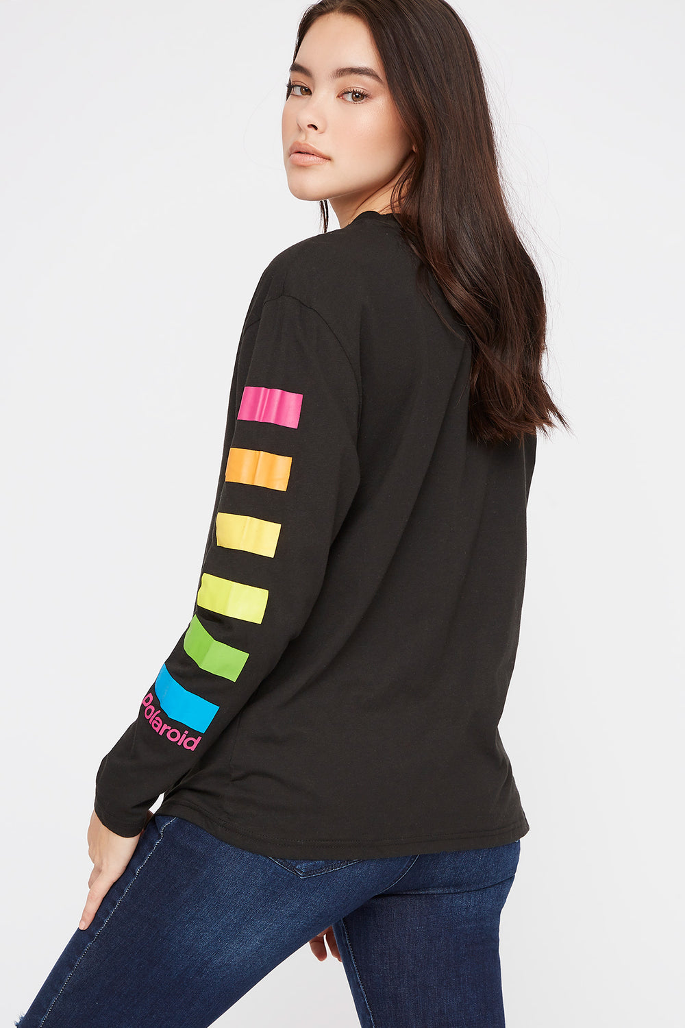 Polaroid Graphic Long Sleeve Black