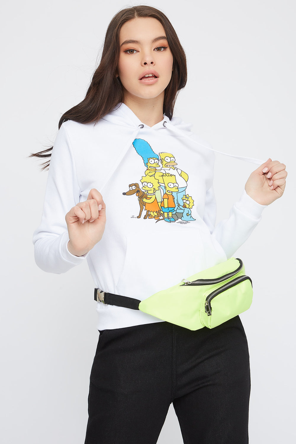 The Simpsons Graphic Hoodie White