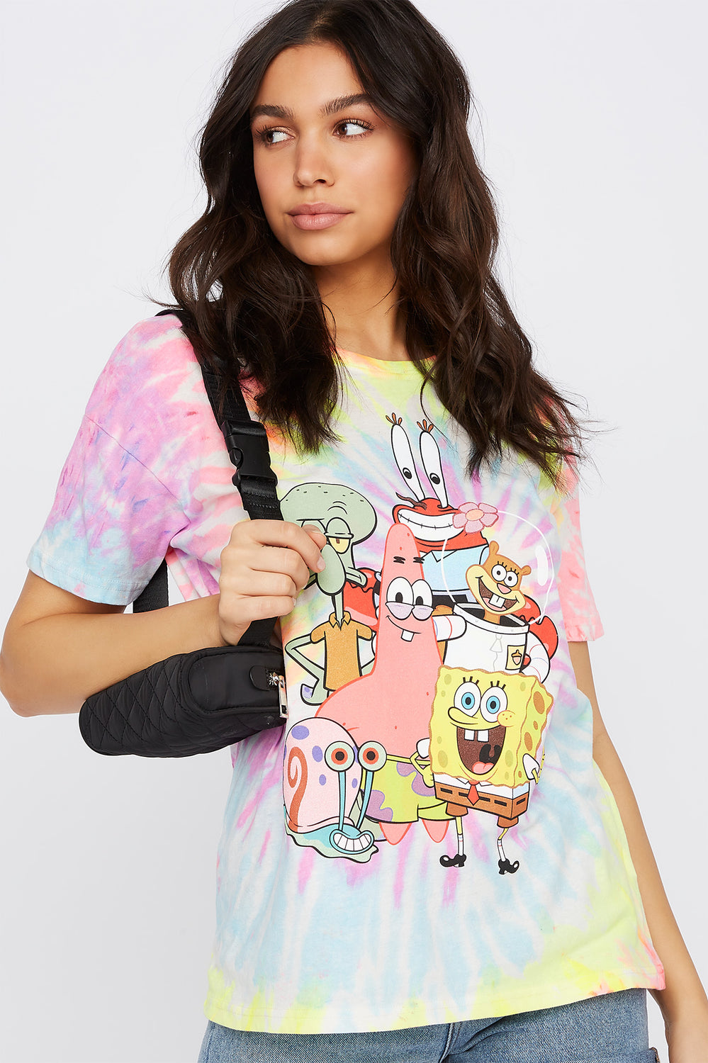 Tie Dye Graphic Spongebob Squarepants T-Shirt Multi