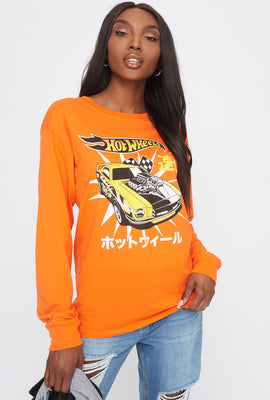 Orange Hot Wheels Graphic Long Sleeve