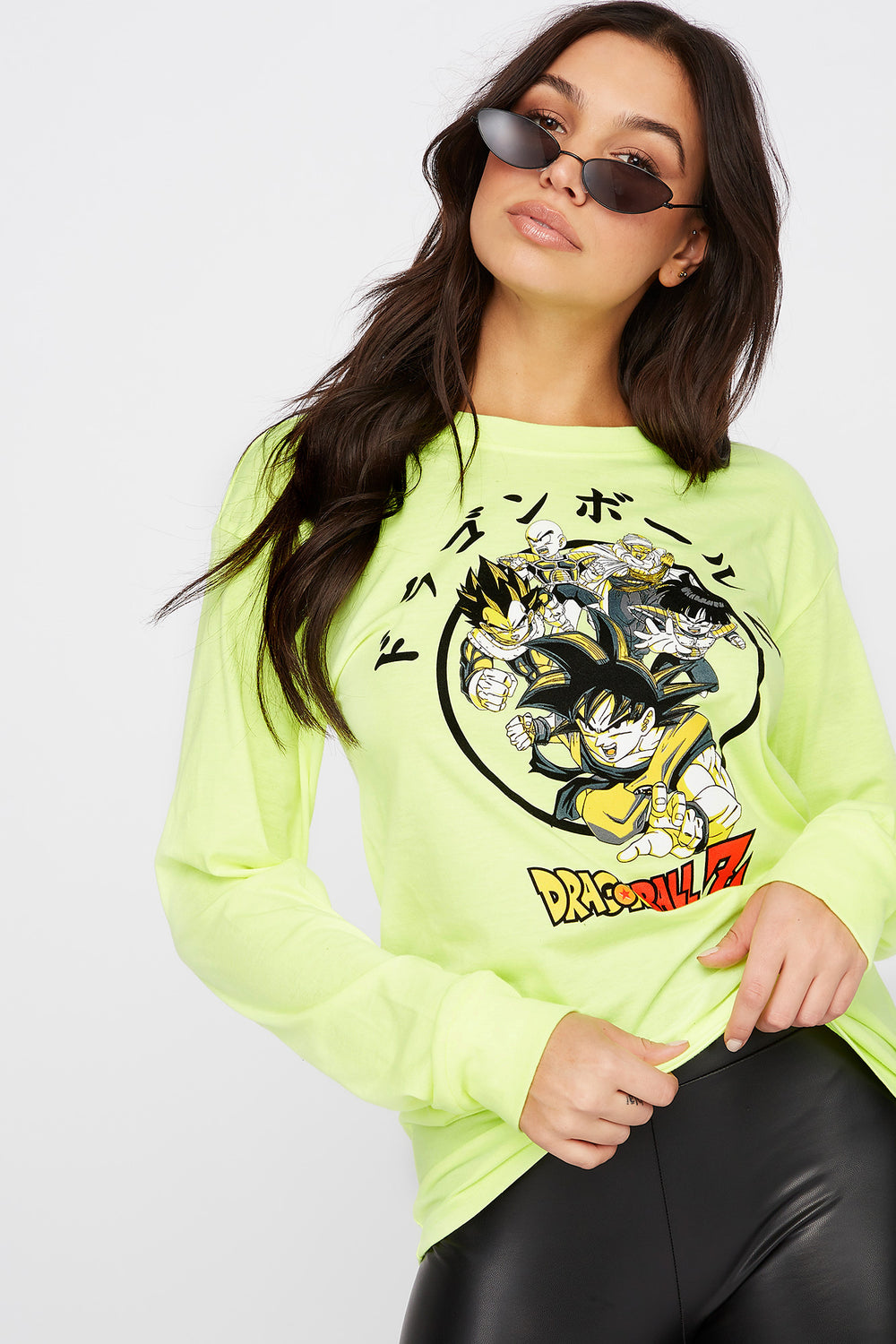 Neon Dragon Ball Z Graphic Long Sleeve Yellow