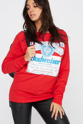 Graphic Budweiser Long Sleeve Shirt