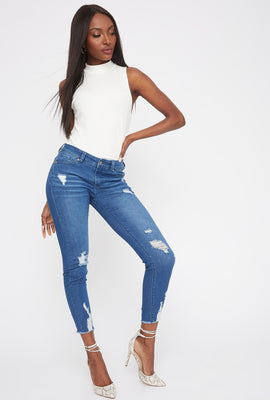 Butt, I Love You Distressed Push-Up Skinny Jean