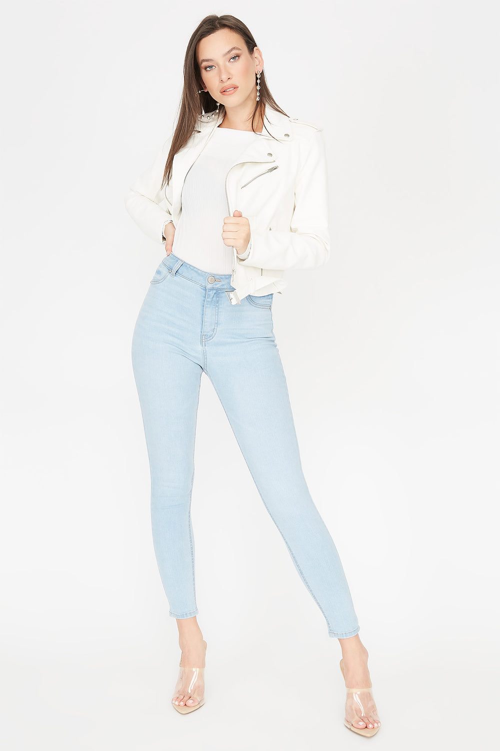 Refuge Madrid High-Rise Light Wash Jegging Light Denim Blue
