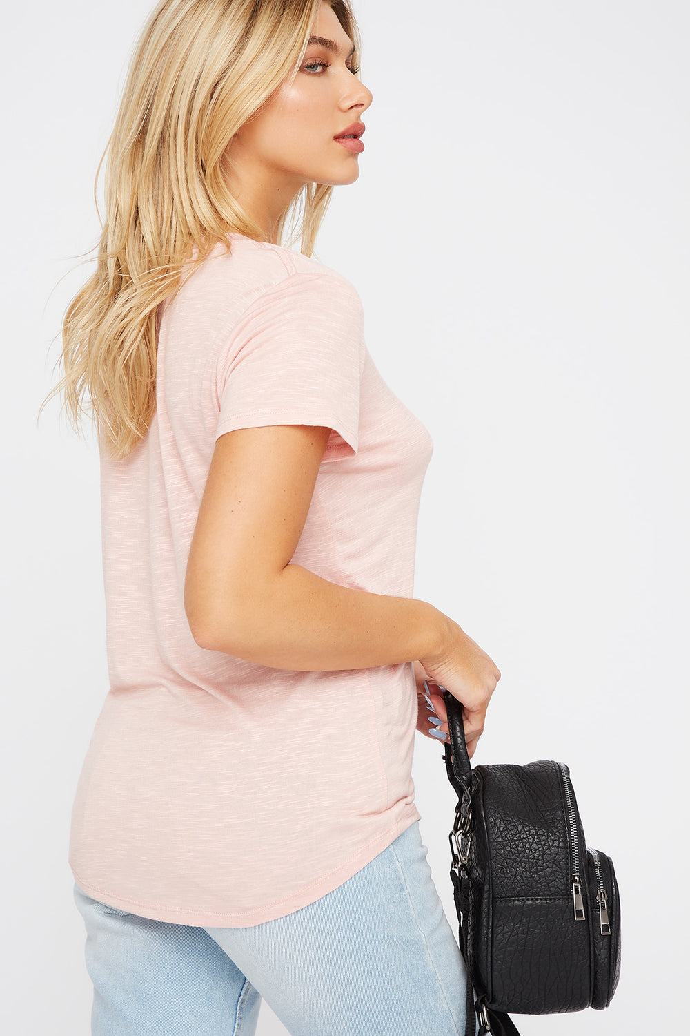Soft V-Neck T-Shirt Rose