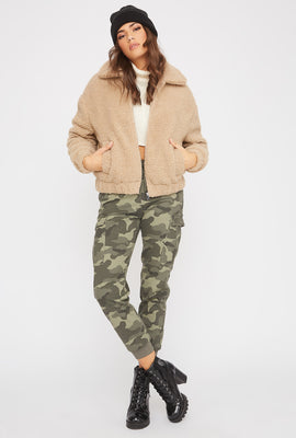 Soft Sherpa Bomber Jacket