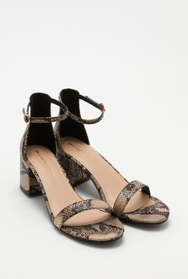 Open-Toe Block Heel Sandal