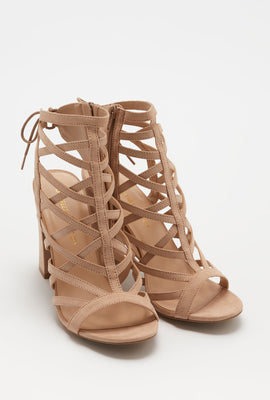 Caged Block Heel Sandal