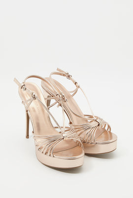 Strappy Platform Stiletto Sandal