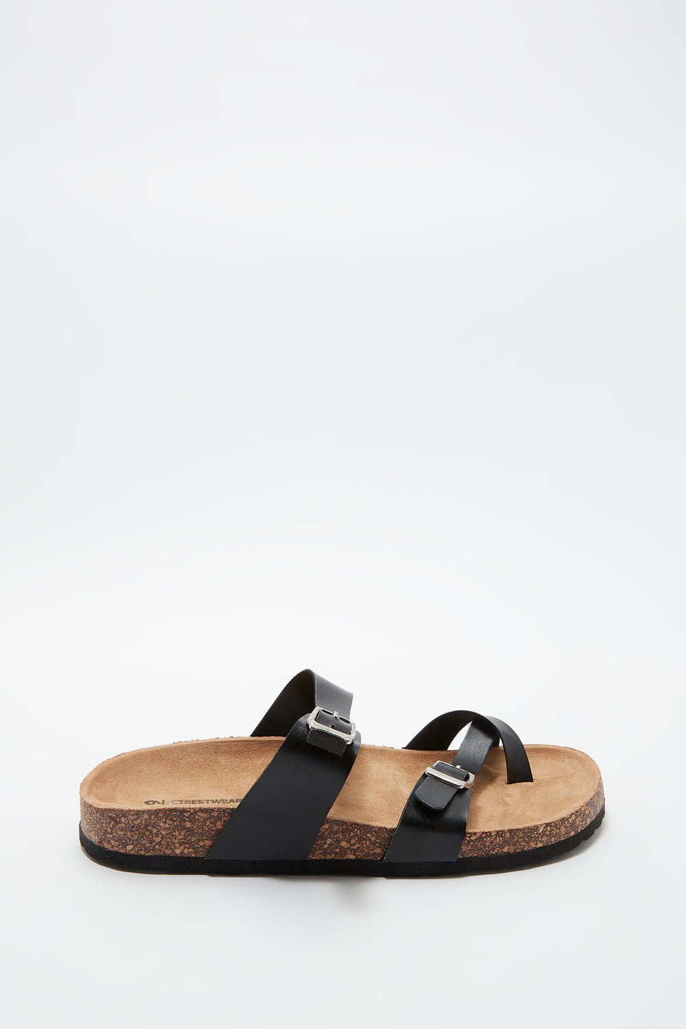 Dual Buckle Strap Toe Piece Slide Plaid