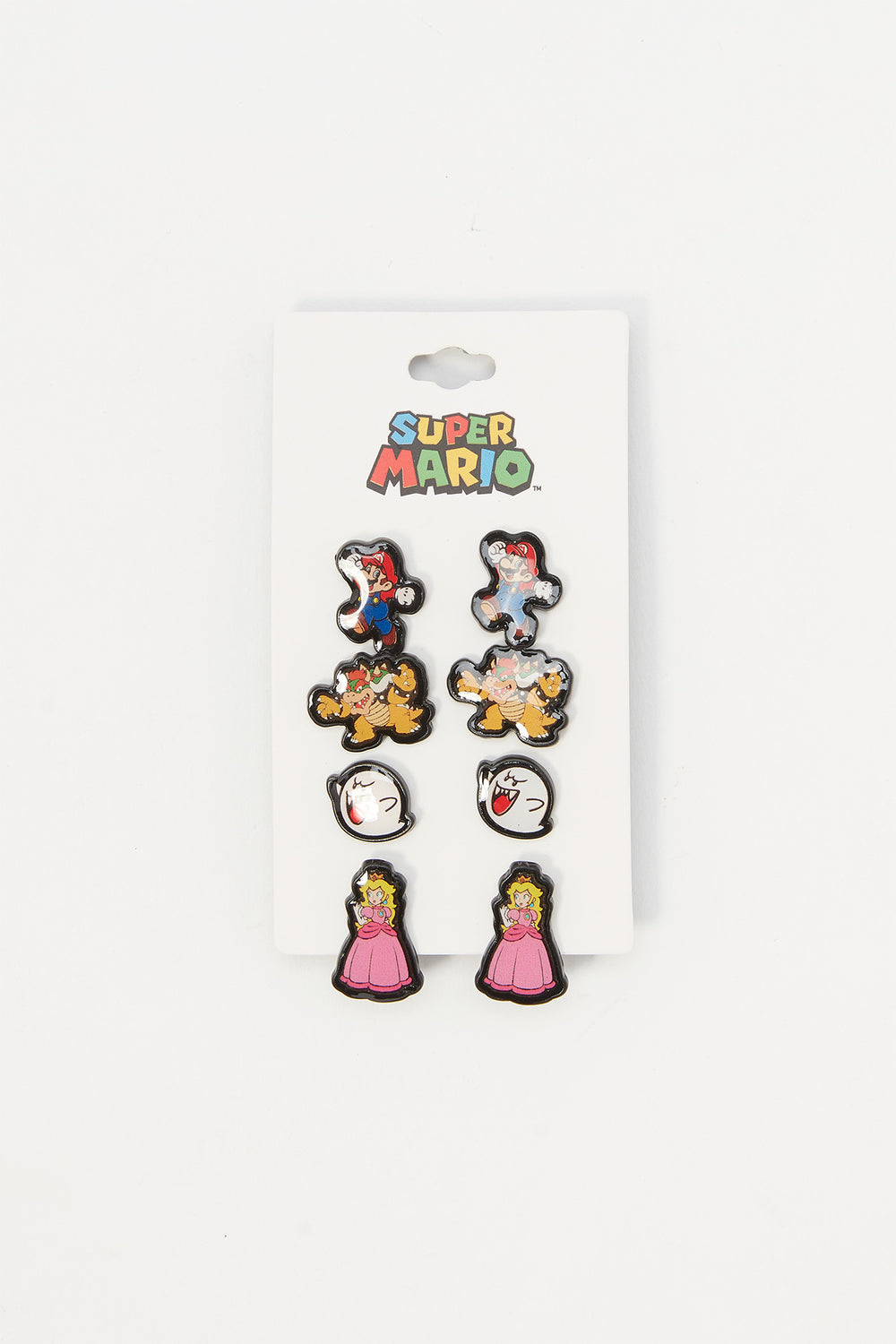 Ensemble de clous d'oreilles Super Mario (4 paires) Multi