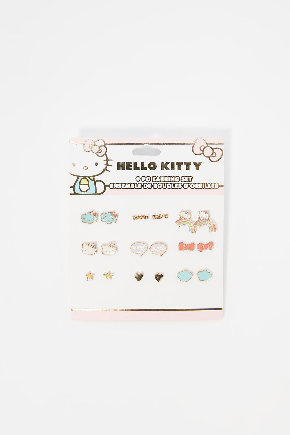 Hello Kitty Stud Earrings Set (9 Pack) Assorted