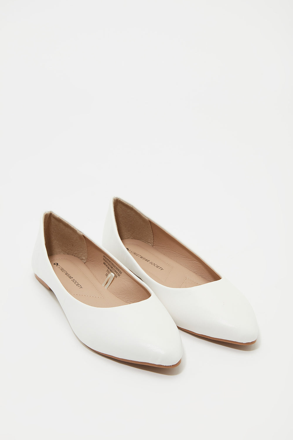 Pointed Ballerina Flat White