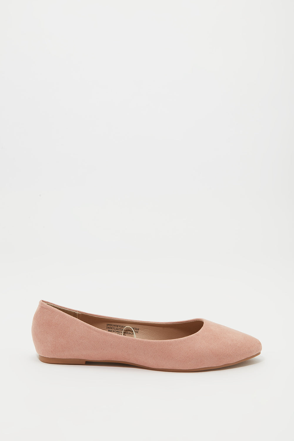 Ballerines pointues Rose pale