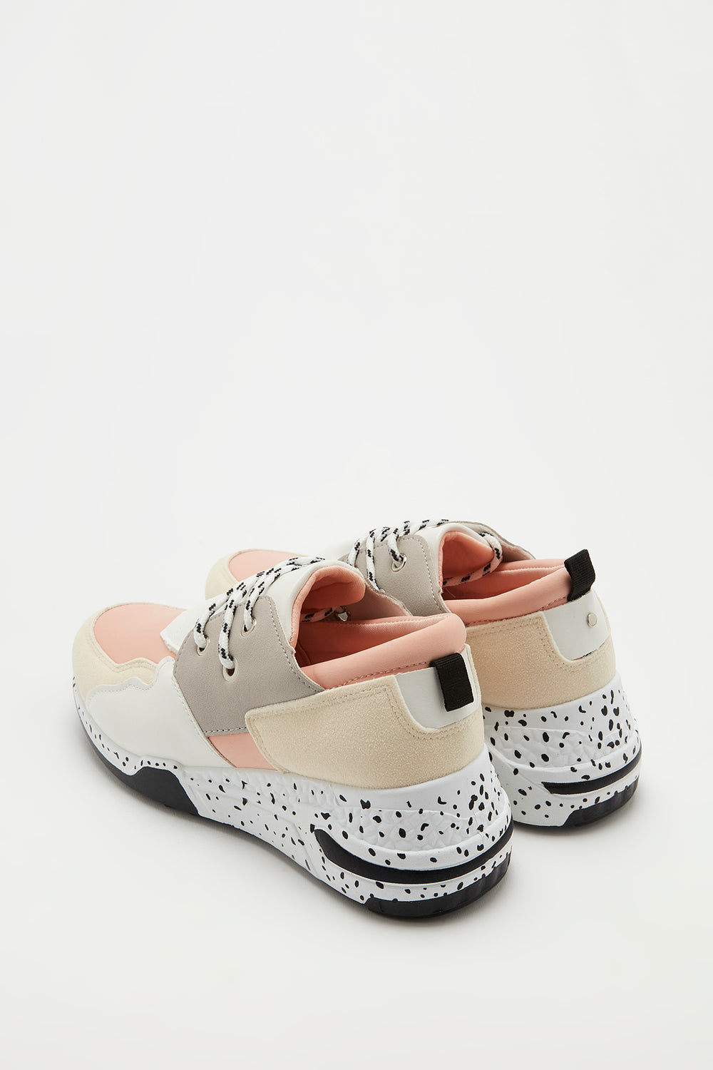 Lace-Up Speckle Outsole Sneaker Light Pink