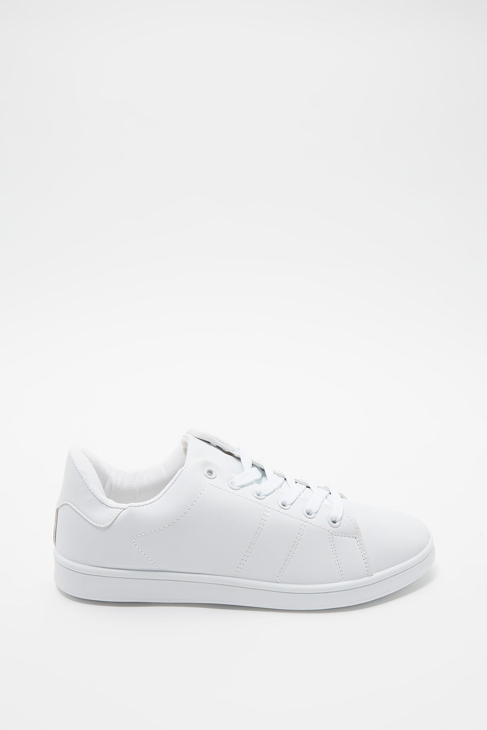 Solid Lace-Up Sneaker White