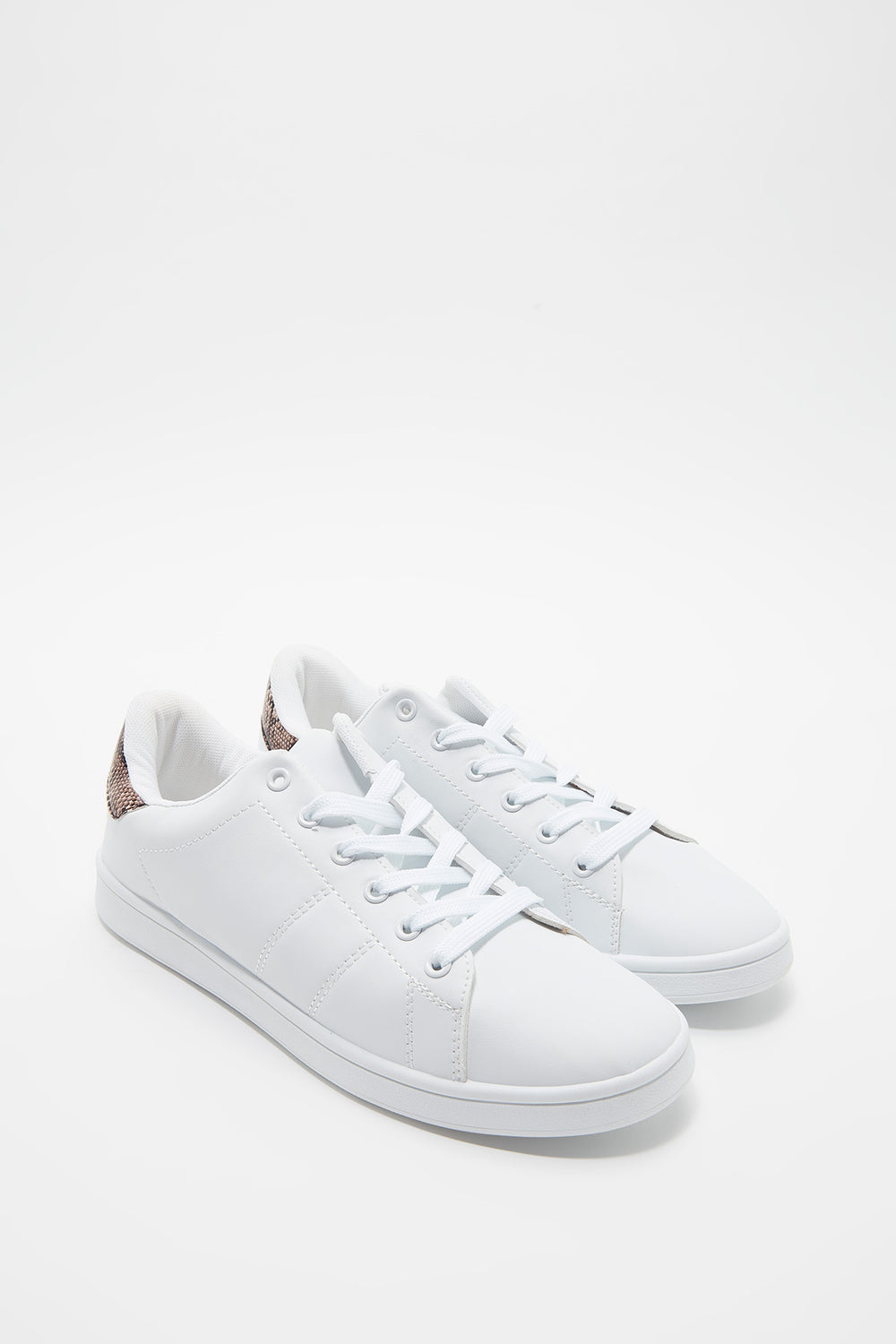 Solid Lace-Up Sneaker Off White