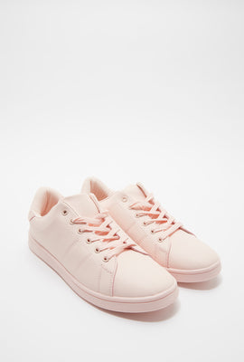 Solid Lace-Up Sneaker