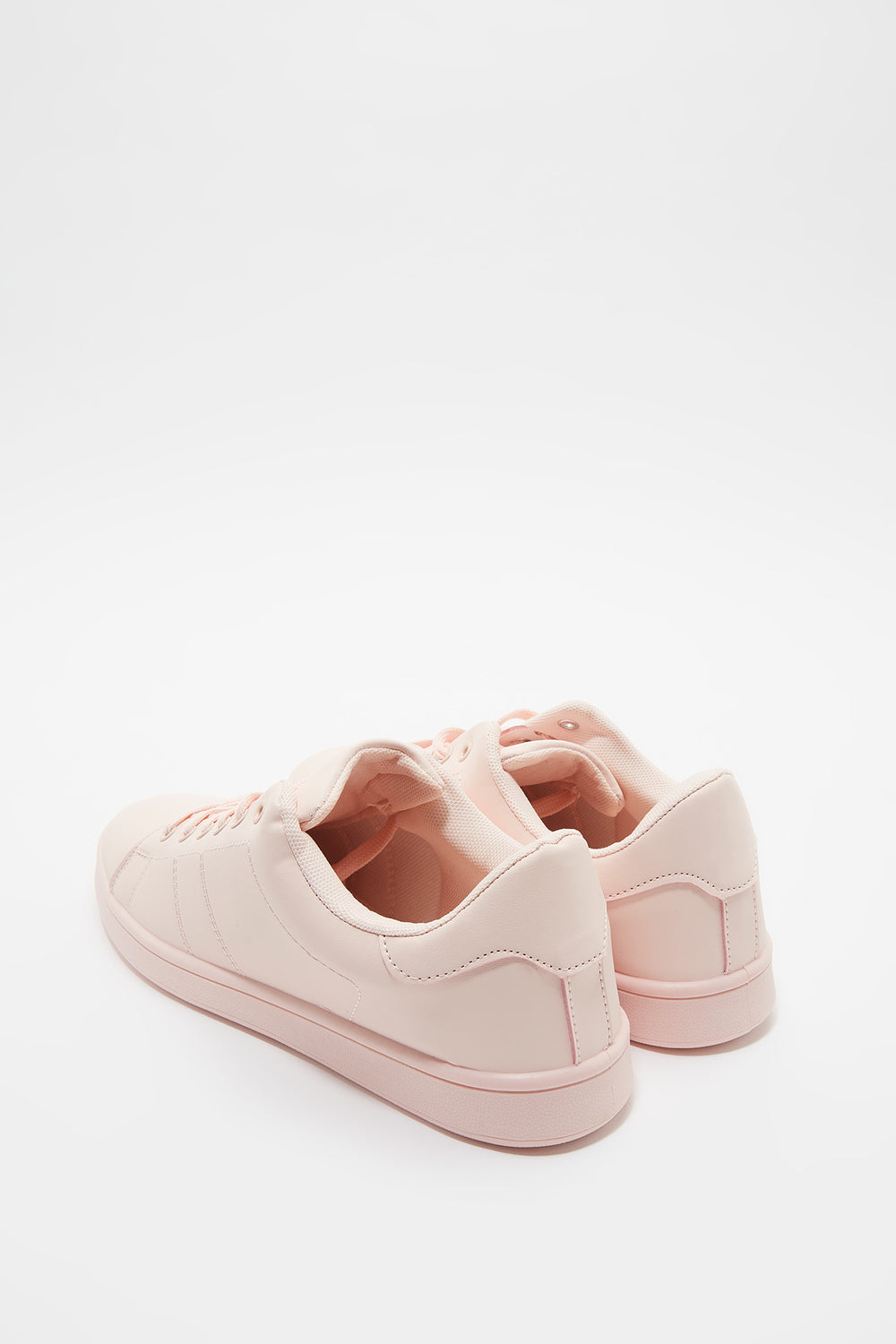 Solid Lace-Up Sneaker Light Pink