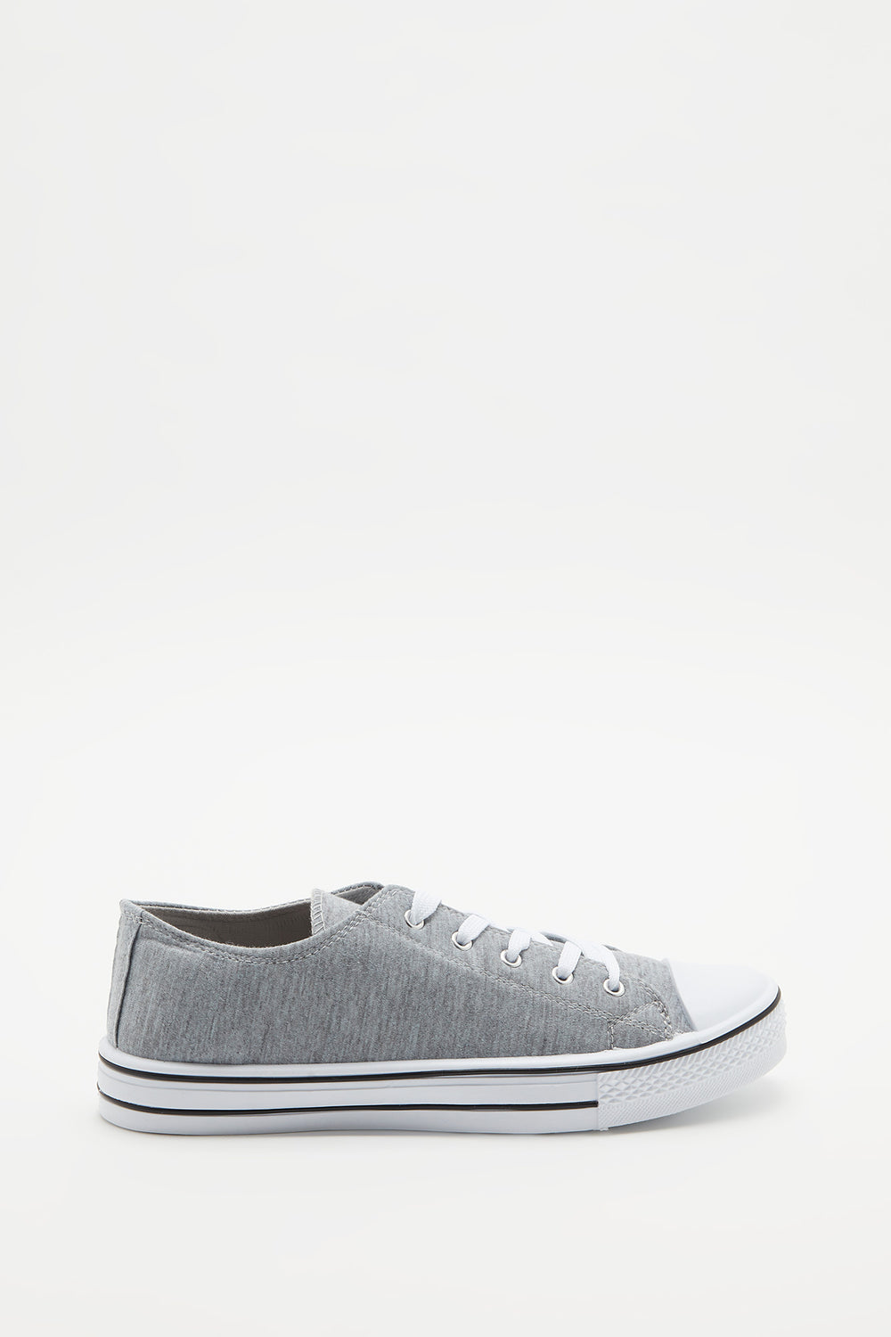 Canvas Lace-Up Sneaker Heather Grey