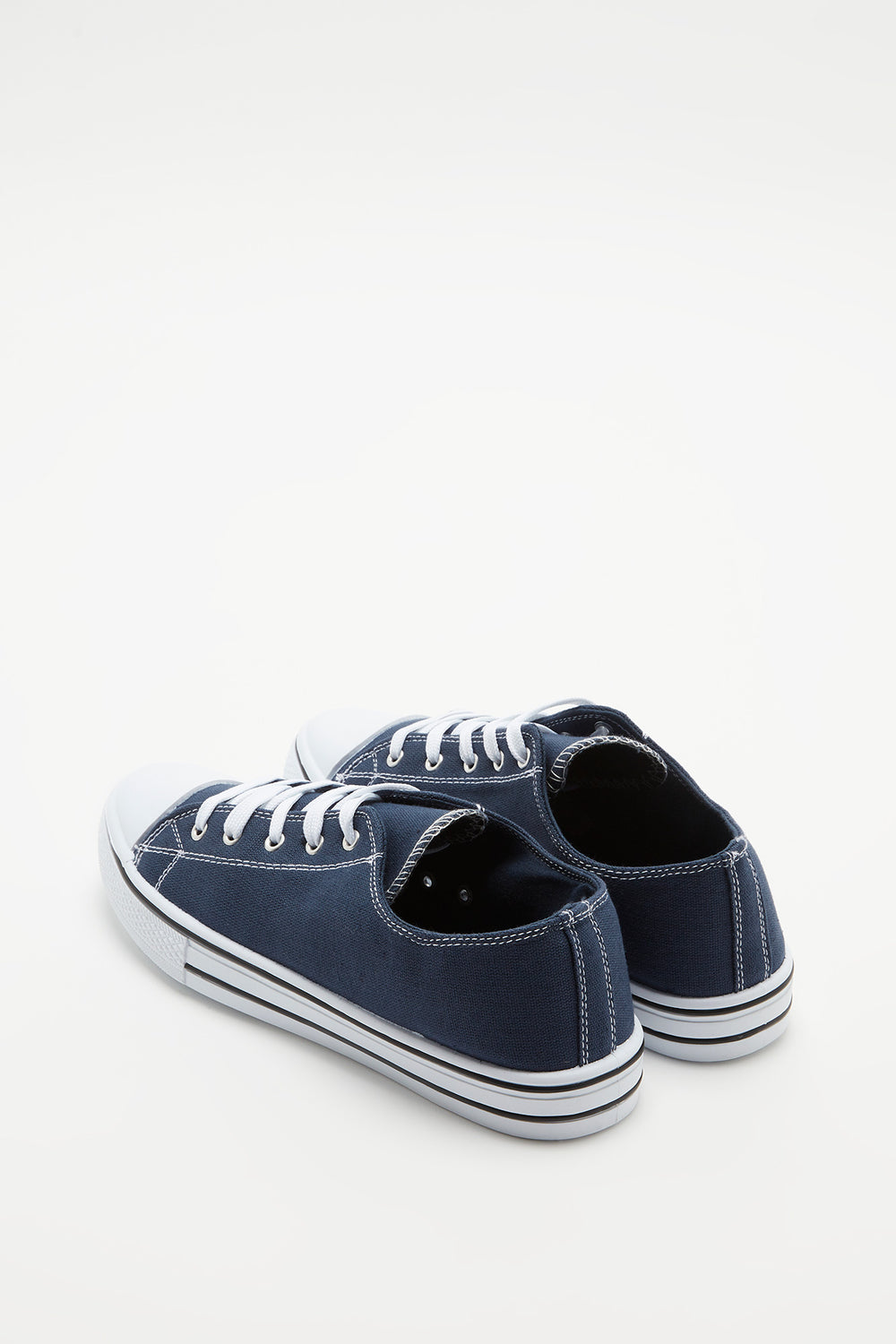 Canvas Lace-Up Sneaker Navy