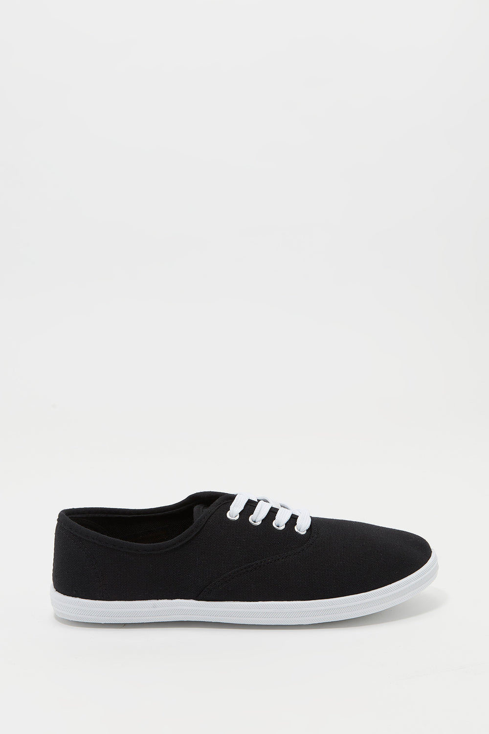 Classic Lace Up Tennis Shoe Black