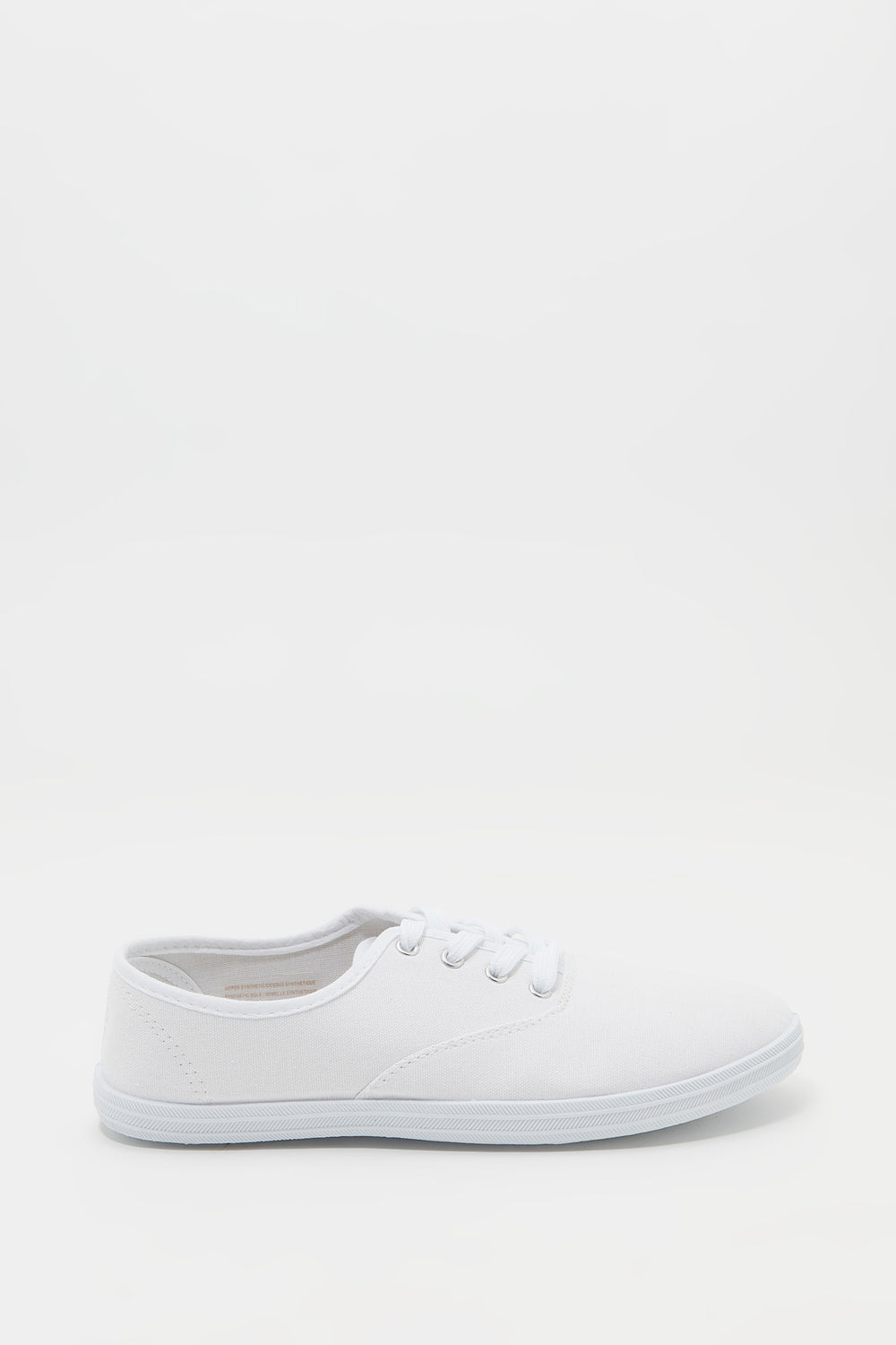 Classic Lace Up Tennis Shoe White