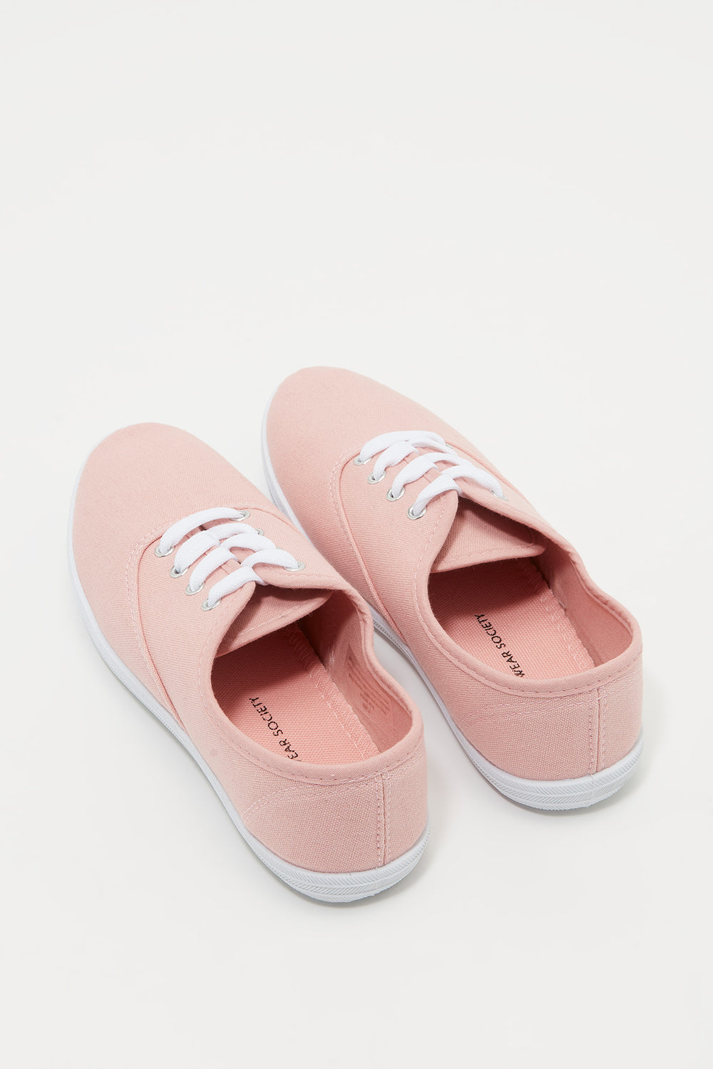 Classic Lace Up Tennis Shoe Light Pink