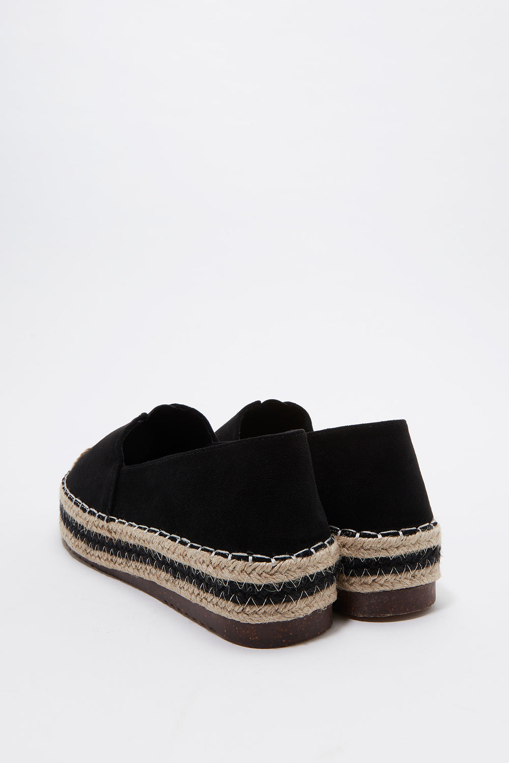 Slip On Platform Espadrille Black