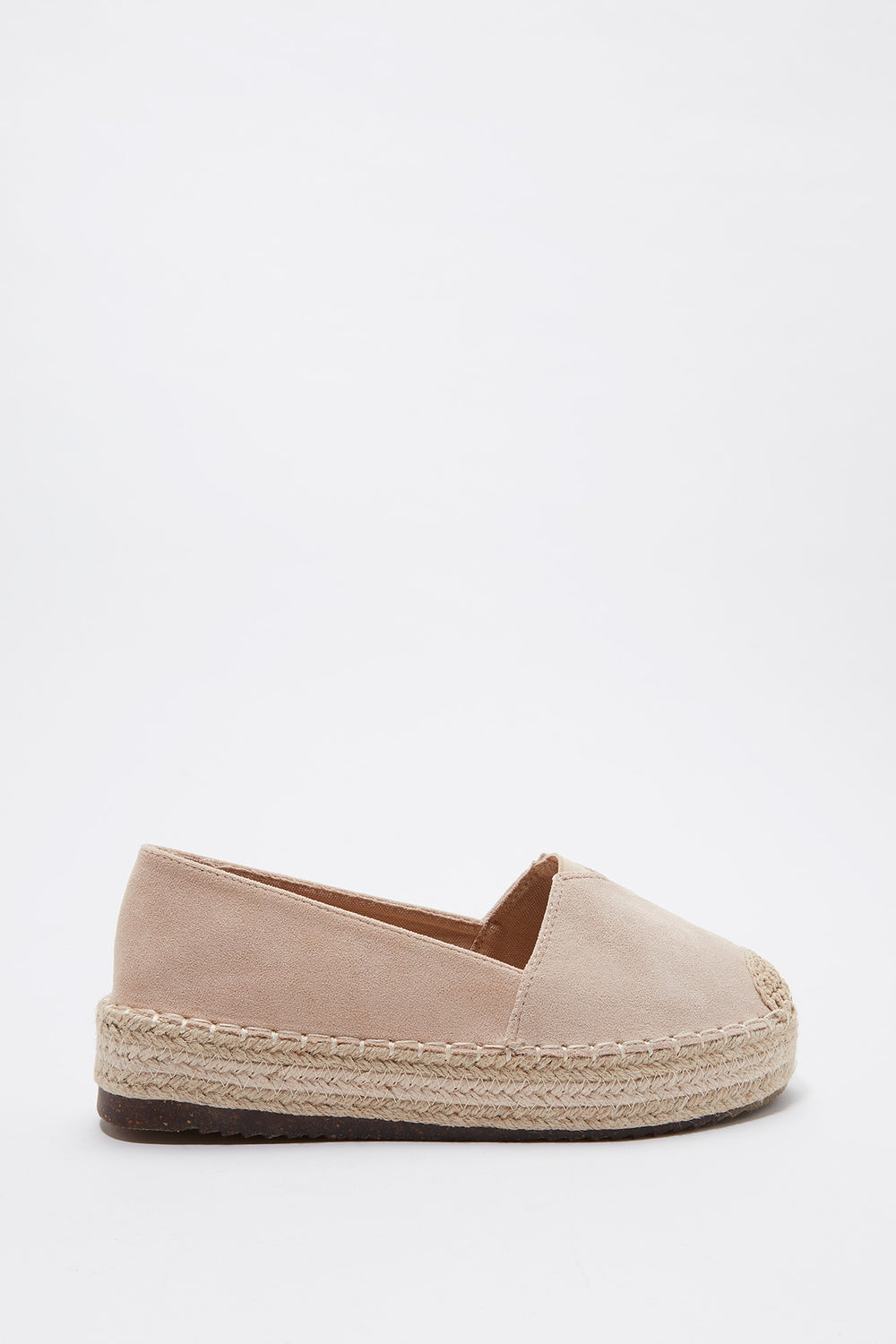 Slip On Platform Espadrille Natural