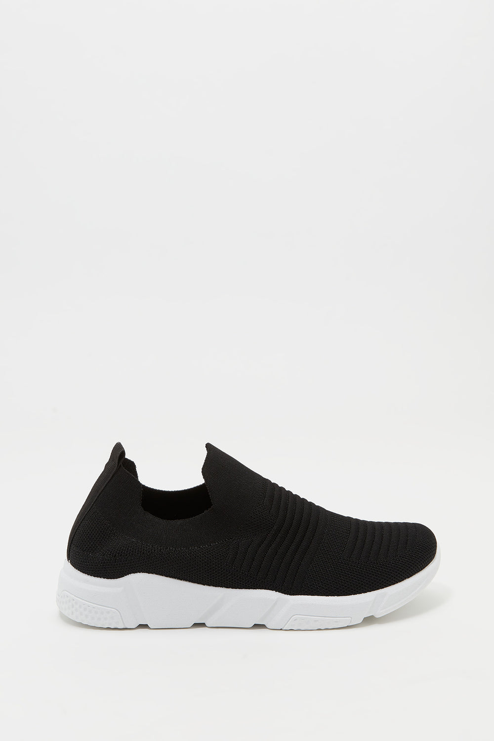 Laceless Knit Sneaker Black