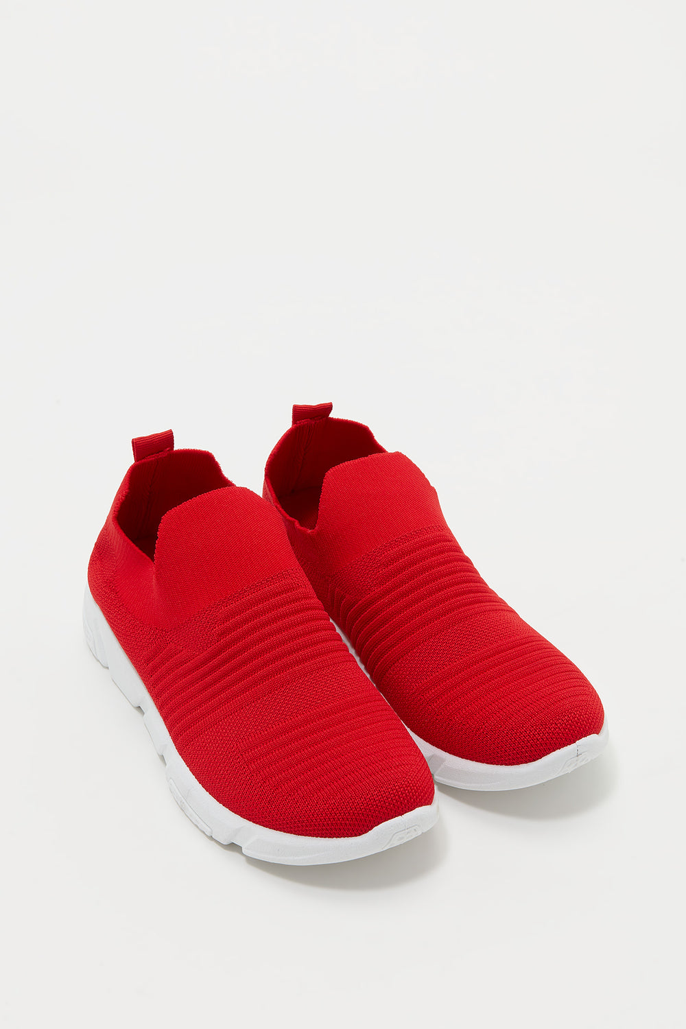 Laceless Knit Sneaker Red