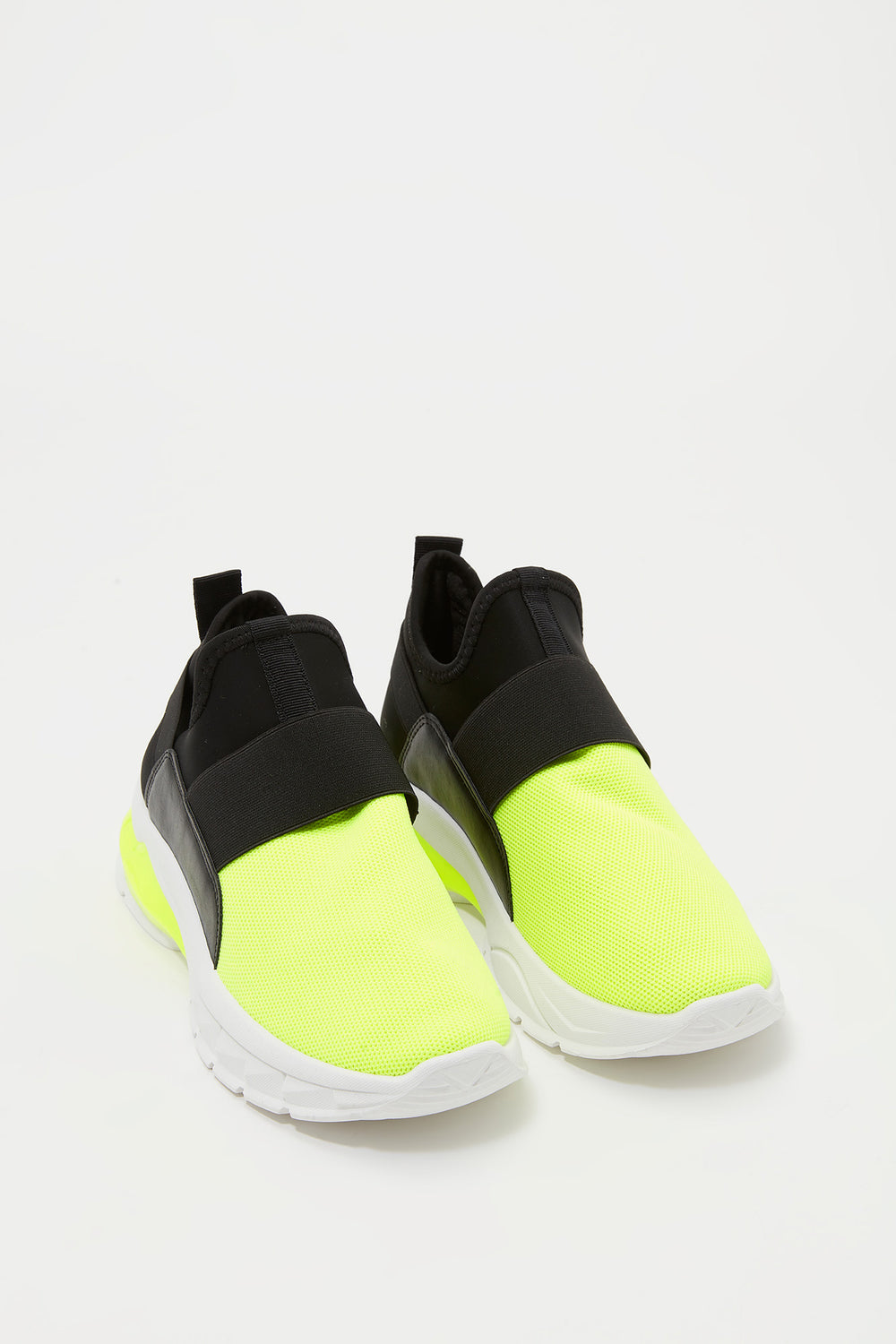 Sommer Ray Knit Laceless Sneaker Neon Yellow