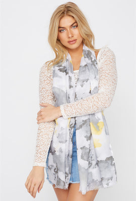 Floral Watercolour Scarf
