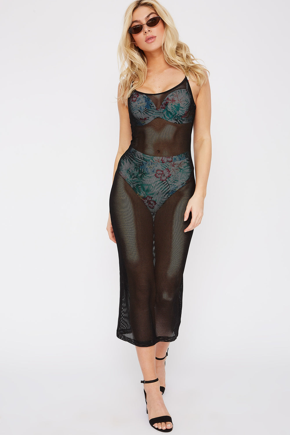 Sommer Ray Net Cover Up Dress Black