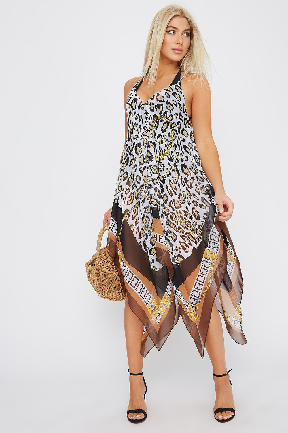 Printed Handkerchief Dress Cover Up Assorted