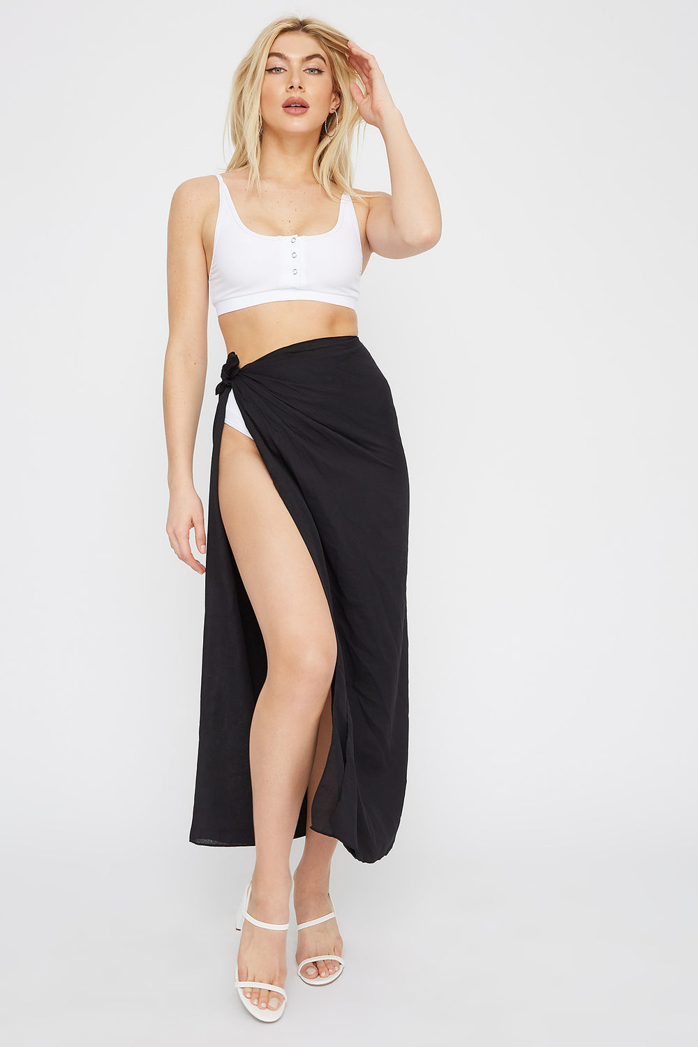 Multi Way Beach Cover Up Black