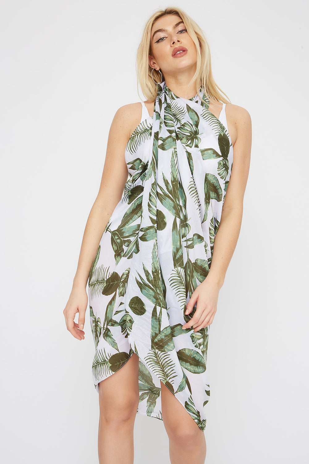Multi Way Beach Cover Up Green