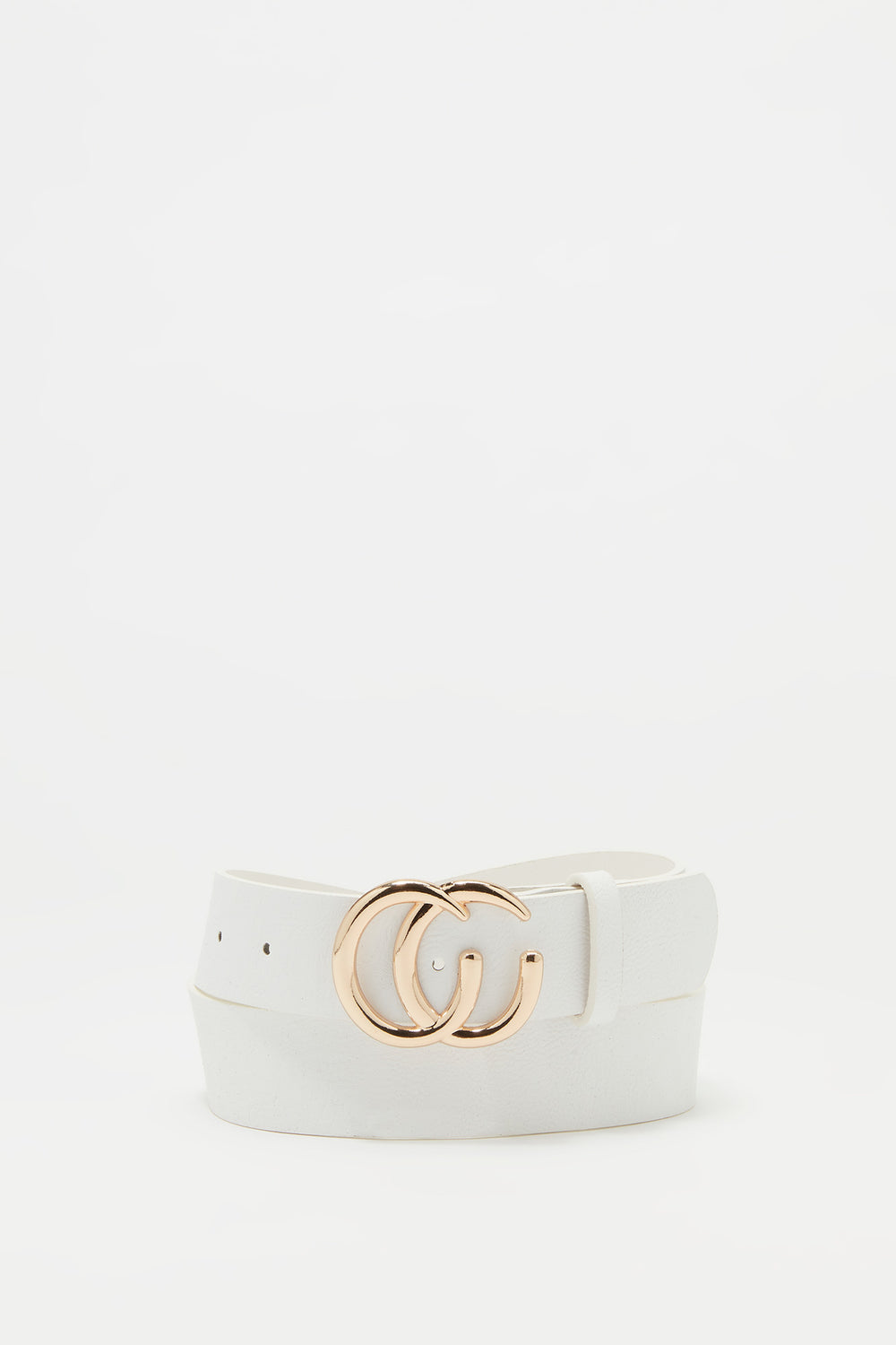Link CC Buckle Belt White
