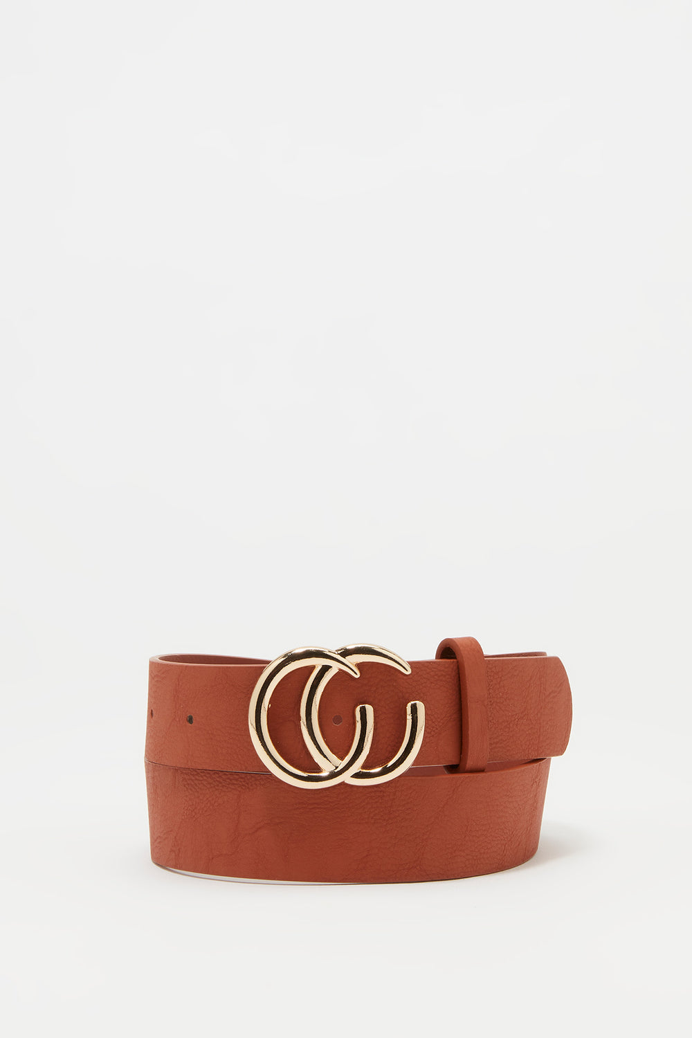 Link CC Buckle Belt Camel
