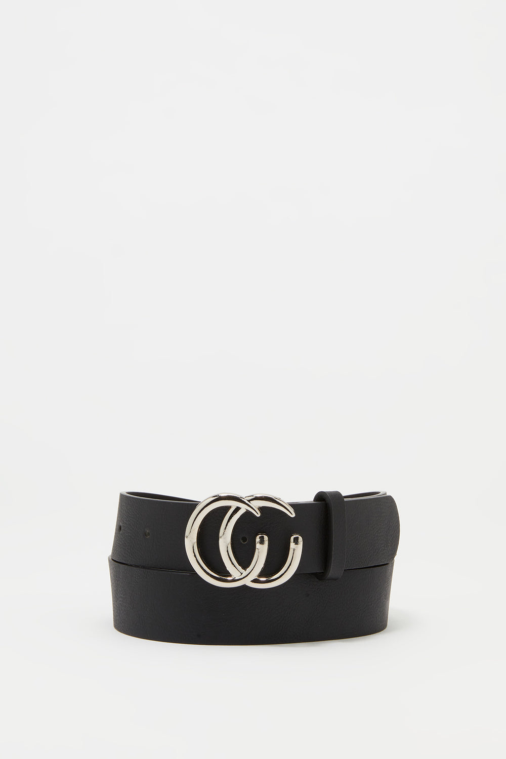 Link CC Buckle Belt Solid Black