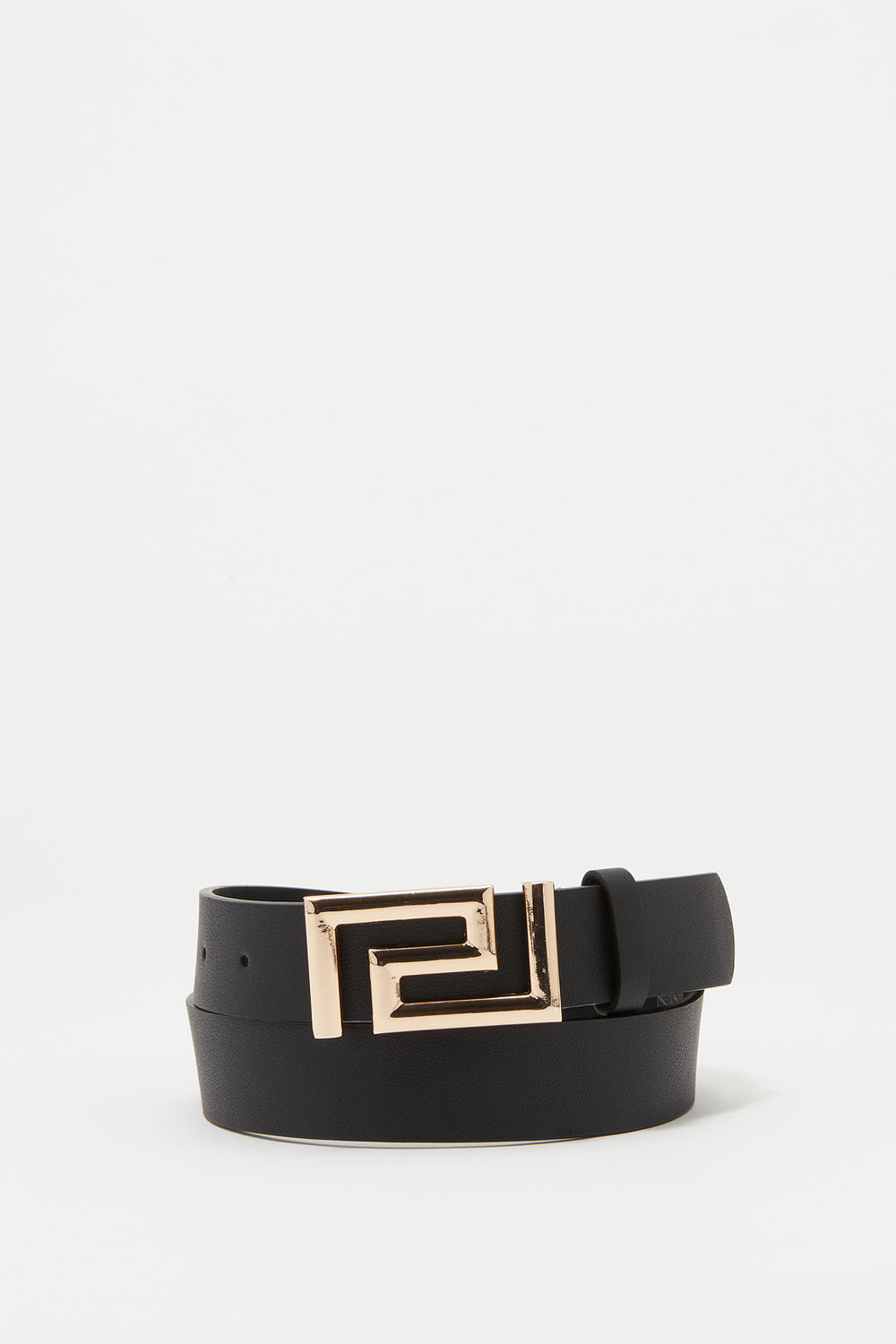 Maze Buckle Belt Black