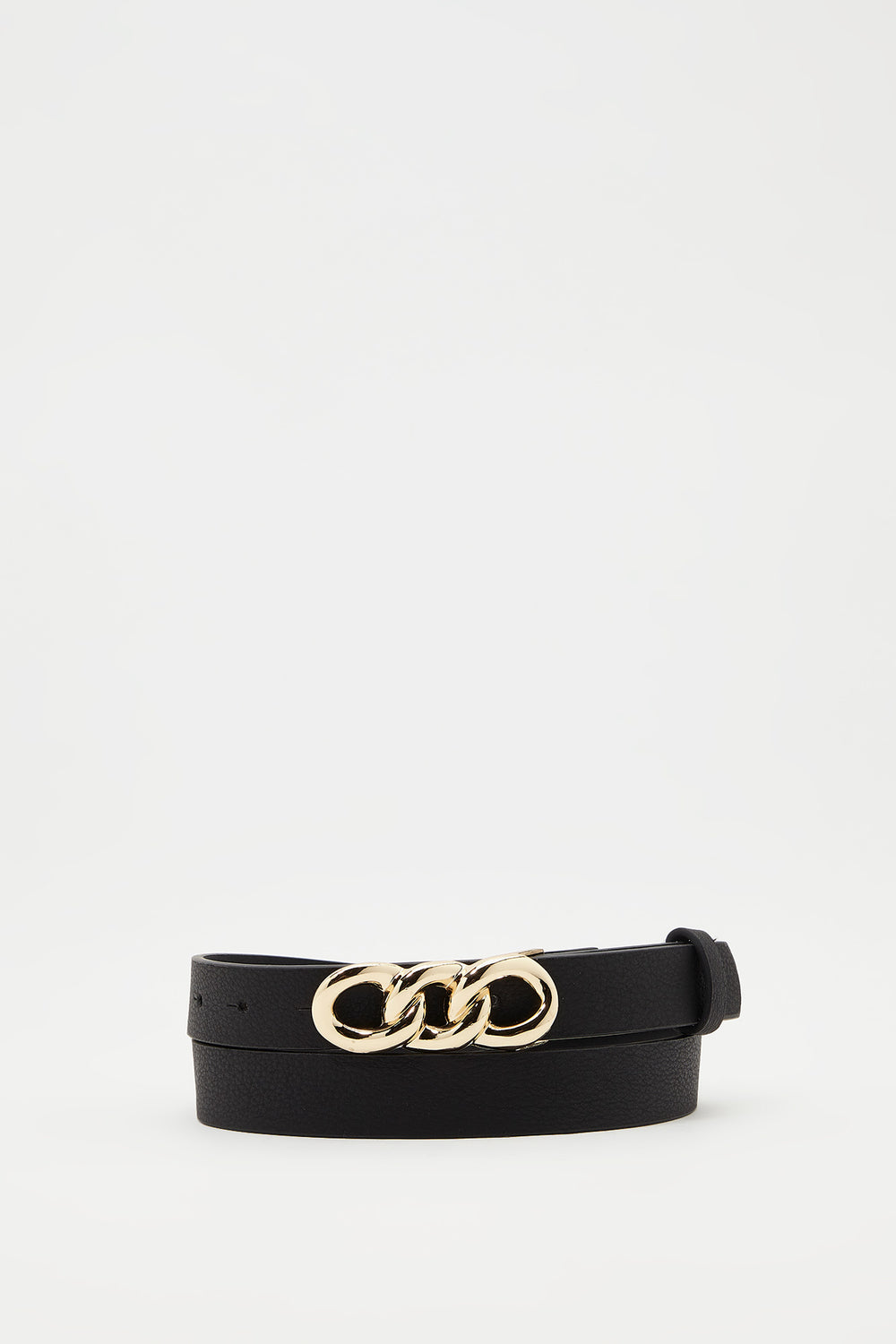 Chain Buckle Belt Black