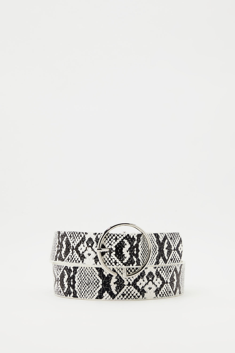 Circle Belt Black with White