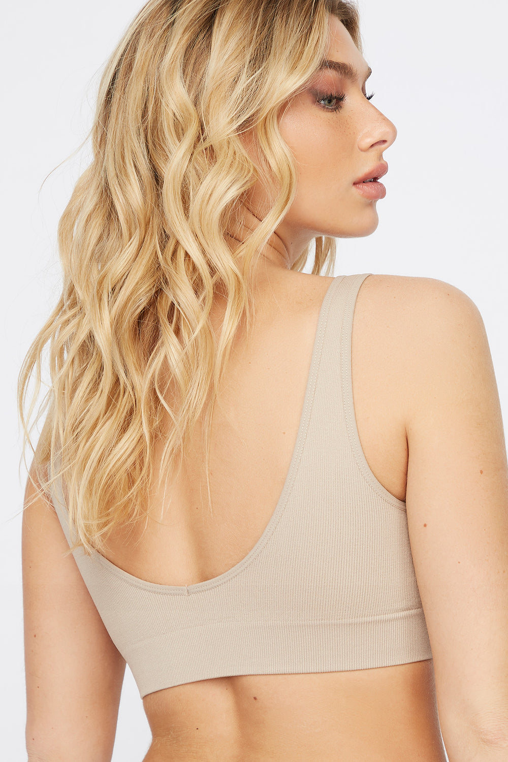 Scoop Neck Bralette Taupe