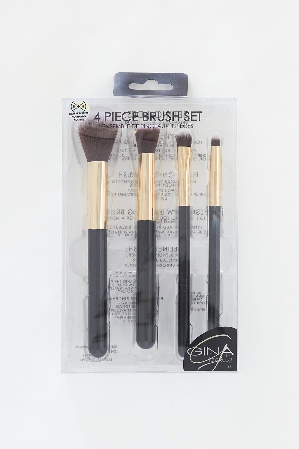 Marble 4-Piece Brush Set Black